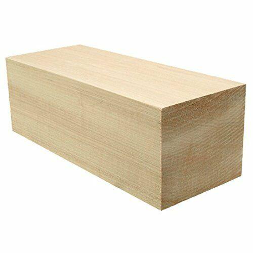 "(4) LOT OF 4 PCS,  2"" x 3"" x 12"" Basswood Carving Wood Blocks Craft, Turning"