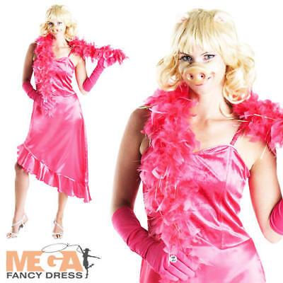 Miss Piggy The Muppets Ladies Fancy Dress Animal Puppet Womens Adult Costume (Animal Muppets Kostüme)