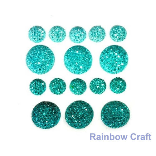 kaisercraft Bling Sparklets / Self Adhesive Rhinestones crystal ebony hearts - Sea Breeze