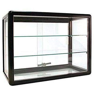 Aluminum Frame - Black Finish Countertop Showcase -24w X 12d X 18h