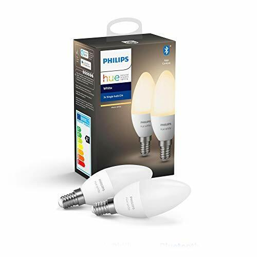 Philips Hue White Smart Candle Bulb Twin Pack LED [E14 Small Edison 2 pack