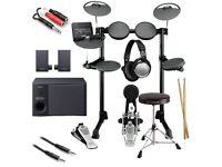 Yamaha elektrick drums speakers full set Yamaha originál plus head set very Nice full working