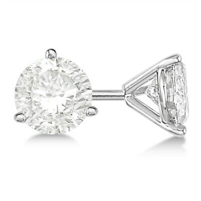 G-H VS-SI 1ct Luxury Fancy Prong Stud Diamond Earrings 14Kt White Gold