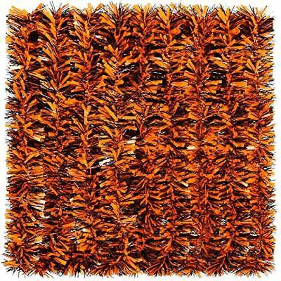 Halloween Tinsel Garland Black and Orange Shiny Garland Metallic Hanging Decora