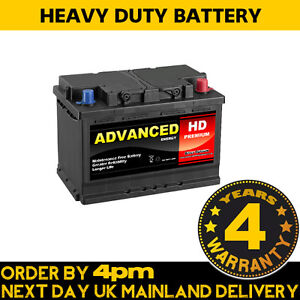 Advanced HD Premium Van Battery 100 Type 72ah 680cca fits Ford Transit Diesel