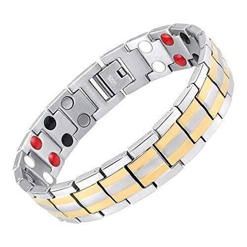 Therapy Magnet Bracelet Negative Ion 4 minerals Energy Balance Pain Relief