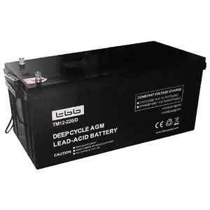 AGM 12volt 220ah @ 20h deep cycle battery Brisbane City Brisbane North West Preview