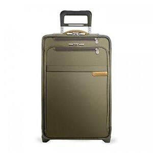 NEW Briggs  Riley U122CX-7 BaselineDomestic Carry-On ExpandableUpright Suitcase Olive, Medium Condition: New