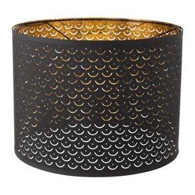 Ikea NYMÖ brass/black lamp shade