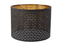 Ikea NYMÖ brass/black lamp shade