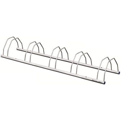 5 BIKE GALVANIZED FLOOR/WALL MOUNTED BICYCLE STORAGE RACK STAND FOR BIKES/CYCLE