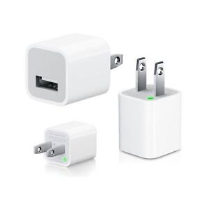 USB WALL CHARGER WHITE CAN BE USED FOR IPHONE, IPOD, SAMSUNG ETC
