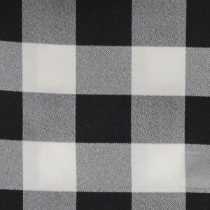 """Black White Checkered Table Runner 13"""" x 72"""" Checker ..."""