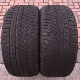4X As New 10MM+ WINTER Tyres 2x 235 45 R 19 99V plus 2x 255 40R 19 100V XL CONTINENTAL