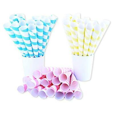 Fairy Cones Premium Multicolor Cotton Candy Cones 50 Pieces Pastel Yellow Blue
