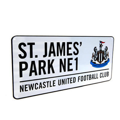Newcastle United Fc Utd Fc Metal Street Sign - Official Merchandise - Wall Or Do