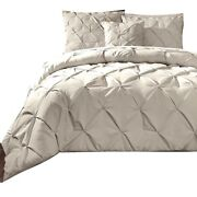 Queen Comforter Set Tan