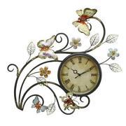 Metal Wall Art Clock
