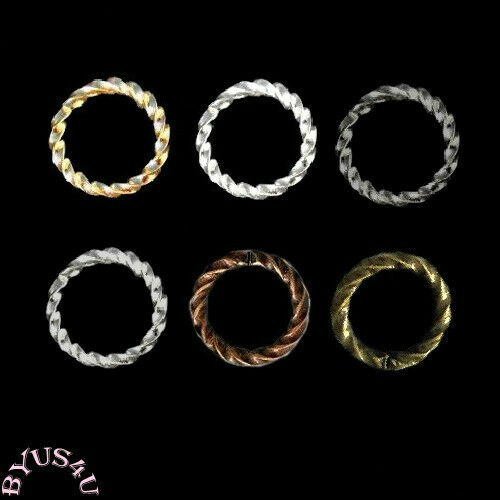 JUMP RING 16 gauge Twisted OPEN FANCY ROPE CONNECTOR FINDING PICK 6mm 8mm 10mm