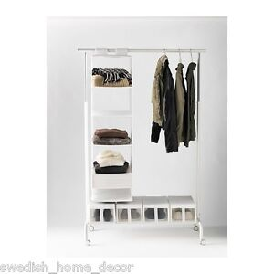 new white ikea rigga clothes shoes garment rack retail boutique new in