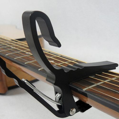 Black Folk Acoustic Electric Tune Quick Guitar Trigger Capo Key Clamp Change