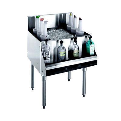 Krowne Metal Kr18-24-10 Royal 1800 Series Underbar Ice Bin Cocktail Unit
