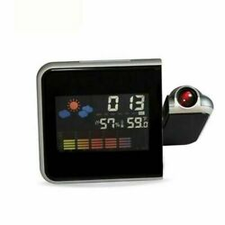 Projection Digital Weather LCD Snooze Alarm Clock Color Display