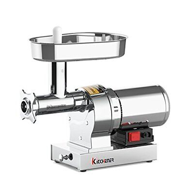 Kitchener 8 Commercial Grade Electric Stainless Steel Meat Grinder 12 Hp