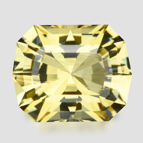 5.20cts EXQUISITE CUSTOM CUSHION CUT NATURAL YELLOW BERYL VIDEO IN DESCRIPTION