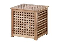 IKEA HOL Wooden Side table / laundry basket / toy storage box - 2 available at £8 each