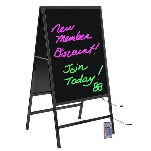 New Generation Multi-Colored LED Aluminium A Frame Display Board w/RemoteControl