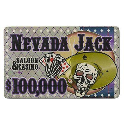 - Nevada Jack 40g High-Roller Ceramic Poker Plaques, $100,000, 5-pack