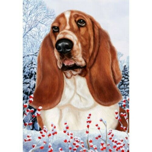 Winter Garden Flag - Basset Hound 150211
