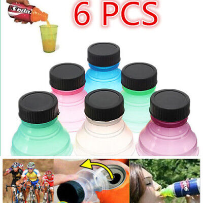 (6X Reusable Useful 6Pcs/set Snap On Pop Tops Can Bottle Caps For Soda Drink Lid)