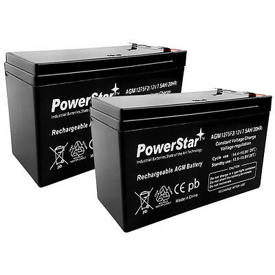 12V 7.5AH Battery Replaces CP1290 6-DW-9 HR9-12 PS-1290F2 - 2PK HIGHEST WARRANTY