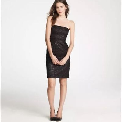Metal Lace Dress - J. CREW Tinsel Lace Dress Size 2 Black Metallic Lace Cocktail Party Dress LBD