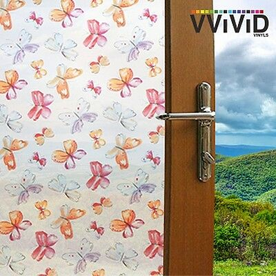 """Frosted Kids Butterfly Window Glass Privacy Home Decor DIY Vinyl Film 36"""" x 50ft"""