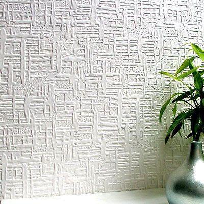 rd0602 anaglypta edward wallpaper white textured paintable ... - Carta Da Parati Bianca Da Dipingere