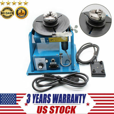 Rotary Light Duty Welding Positioner Turntable 3-jaw Lathe Chuck 2-10rpm 10kg