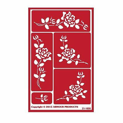 Armour Reusable Over n Over Glass Etching Stencil - ONO Roses