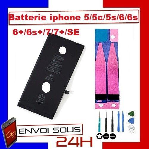 batterie iphone 5/5c/5s/5 se/6/6s/6+/6s+/7/7+/8/8 plus neuve 0 cycle avec adhésif