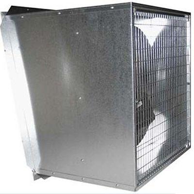 36 Slant Wall Exhaust Fan - 10710 Cfm - 1 Speed - 115230 V - 12 Hp - Direct