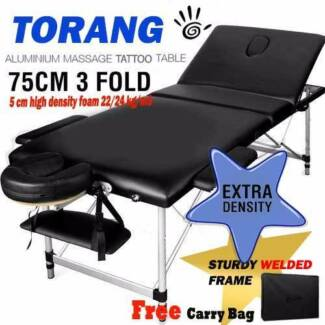 Brand New 75cm Portable Aluminium Massage Tatoo Table 3Fold Treat Maylands Bayswater Area Preview