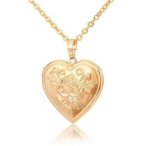 gold heartrglocketsilverdaisy with heart flower small locket lockets charm rose silver