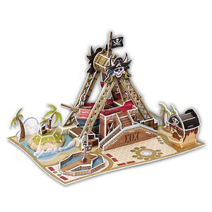3d Puzzle - Cardboard Model - Swinging Pirate Ship - NEW