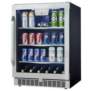 "Danby 24"" Stainless Steel Beverage Center - DBC162BLSST,"