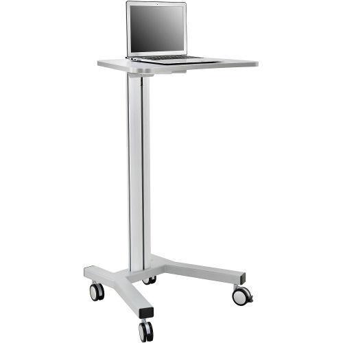 Mobile Height Adjustable Laptop Workstation, Aluminum/Steel