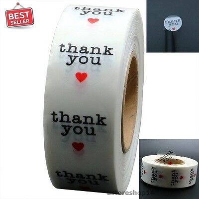 Thank You Stickers 1 Inch Round 1 000 Adhesive Label Per Roll Craft Stick Circle