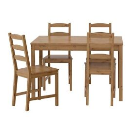 Solid Pine Antique Stain Table and Chairs