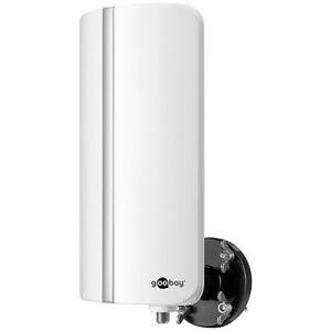 Goobay DOA-57 Aktive Außenantenne mit Montage-Kit DVB-T DVB-T2 VHF/UHF/FM/UKW